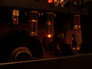 tube amplifier tube glow