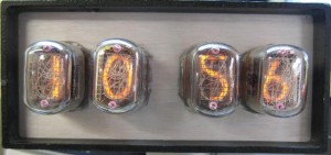 nixie tube clock face