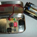 PICAXE 08M start kit in an Altoids can