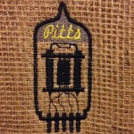 My brother-in-law digitized my logo and embroidered it on burlap.