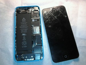 My iPhone hit the ground! It's cracked, and doesn't work.